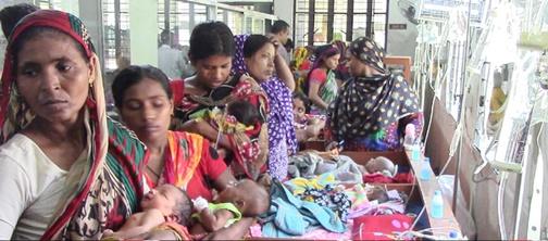 ঝিনাইদহ সদর হাসপাতালে বেড়েই যাচ্ছে শিশু রোগী